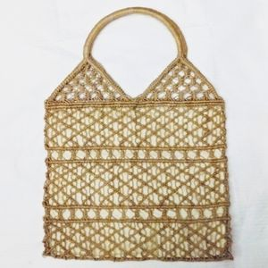 Straw Tote Bag Lined